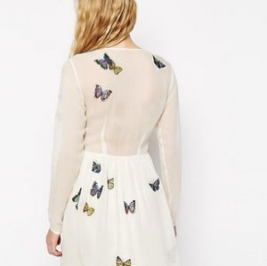 ASOS Dresses - ASOS mini skater dress with embroidered butterfly